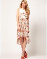 Oasis Iris Print Dress - Lyst