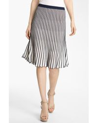 BCBGMAXAZRIA Stripe Sweater Skirt - Lyst