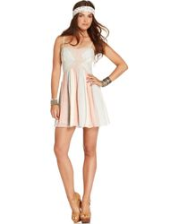 Free People Sleeveless Sweetheart Striped Dress - Lyst