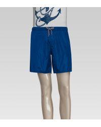 Gucci Blue Swim Shorts - Lyst