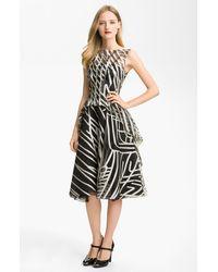 Lela Rose Layered Organza Dress - Lyst