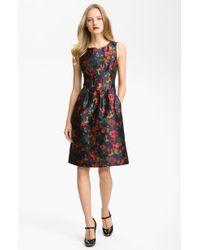 Lela Rose Floral Print Sheath Dress - Lyst