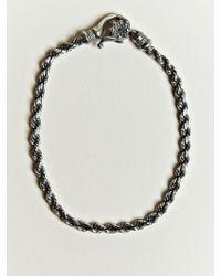 Nonnative - Nonnative Mens Twist Link Bracelet - Lyst
