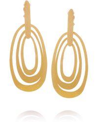Herve Van Der Straeten 24karat Goldplated Hammered Clip Earrings - Lyst
