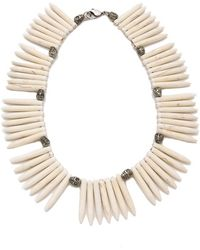 Made Her Think - Tooth N Skull Necklace - Lyst