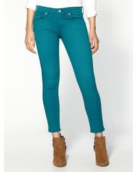 7 For All Mankind Crop Skinny Jeans - Lyst
