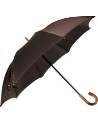 Barneys New York Pinstripe Folding Stick Umbrella - Lyst
