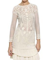 Isabel Marant Cotton Lace On Net Dress - Lyst