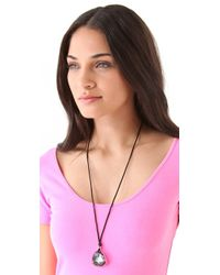 Juicy Couture - Stone Pendant Necklace - Lyst