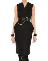 McQ by Alexander McQueen Structured Wool Coat Style Dress - Lyst