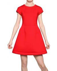 MSGM Aline Neo Fleece Dress - Lyst