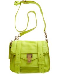 Proenza Schouler Leather Pouch yellow - Lyst