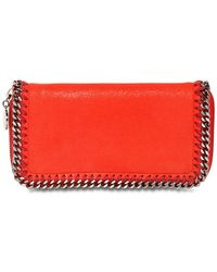 Stella McCartney Shaggy Deer Faux Leather Wallet - Lyst