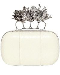 Alexander McQueen Whipsnake Short Knucklebox Clutch - Lyst