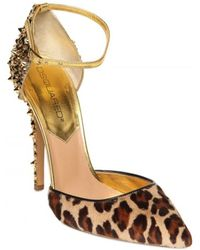 DSquared² 110mm Lalique Pony Leopard Studs Pumps - Lyst