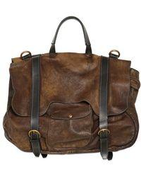 Giorgio Brato - Resin Treated Leather Double Messenger - Lyst
