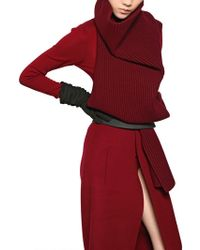 Haider Ackermann Wool Knit Long Scarf - Lyst