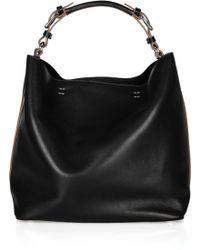 Bcbgmaxazria Black Leather 'Amelie' Large Slouchy Shoulder Bag 89