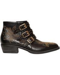 Strategia 34mm Studded Belted Leather Low Boots - Lyst