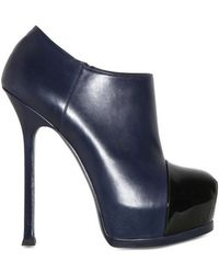 Saint Laurent 140mm Tribtoo Leather Boots - Lyst