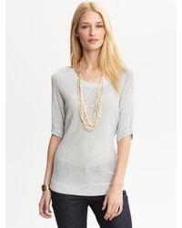 Banana Republic Heritage Metallic Dolman Sweater - Lyst