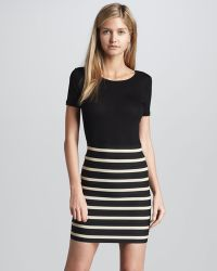 Pleasure Doing Business Bandage Seam Striped Skirt Cusp Top Seller - Lyst
