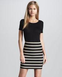 Pleasure Doing Business | Bandage Seam Striped Skirt Cusp Top Seller | Lyst