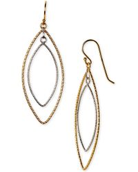 Argento Vivo Double Marquise Drop Earrings - Lyst