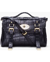Mulberry Black Alexa Veg Tan Bag black - Lyst