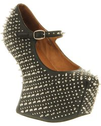 Jeffrey Campbell Prickly Wedge black - Lyst