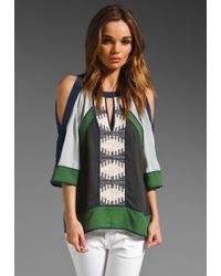BCBGMAXAZRIA The Kesi Blouse - Lyst