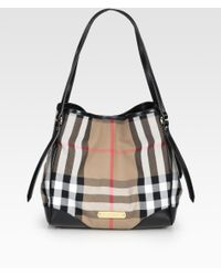 Burberry Canterbury Mixed-Media Bridle Tote - Lyst