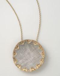 House of Harlow 1960 - Engraved Sunburst Pendant - Lyst