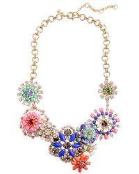 J.Crew Flower Lattice Necklace multicolor - Lyst