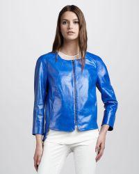 Robert Rodriguez | Painted Leather Zip Jacket | Lyst
