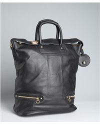 See By Chloé Black Leather Large Convertible Tote - Lyst