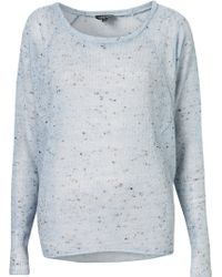 Topshop Speckle Neppy Sweat blue - Lyst