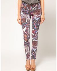 Asos Skinny Jeans in Butterfly Print 4 - Lyst