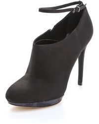 B Brian Atwood Fruitera Sliver Booties - Lyst