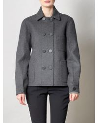 Balenciaga Chemney Felted Wool Peacoat - Lyst