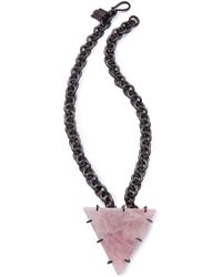 Kelly Wearstler |  Quartz Triangle Necklace | Lyst