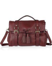 Mulberry Tassel Studded Leather Shoulder Bag - Lyst