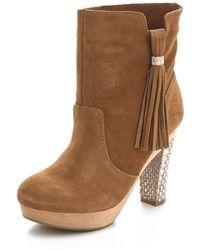 Rebecca Taylor - Dita Platform Heel Booties - Lyst