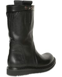 Rick Owens Calfskin Pull On Boots - Lyst
