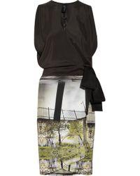 Zero + Maria Cornejo Eddy Printed Silk Blend Wrap Dress - Lyst