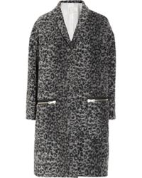 Girl by Band of Outsiders - Leopard Print Coat - Lyst