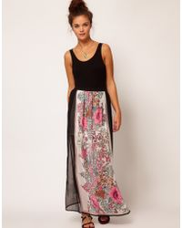 River Island Chelsea Girl Border Print Maxi Skirt - Lyst
