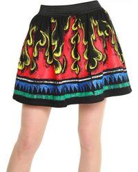JC de Castelbajac - Printed Cotton Fleece Skirt - Lyst