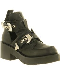 Jeffrey Campbell Coltrane Buckle Ankle Bt Black Leather - Lyst