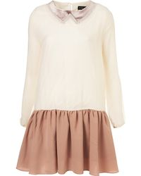 Topshop Faux Collar Dress By Sister Jane - Lyst